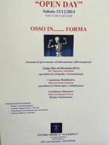 OPEN DAY  OSSO IN ....FORMA